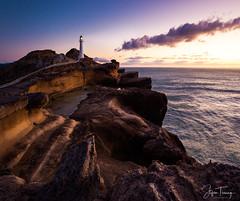 Magic Light at Castlepoint Lighthouse (bin.angeknipst) Tags: lighthouse sunrise newzealand castlepointlighthouse seascape castlepoint landscapephotography masterton wellington neuseeland