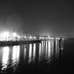 Floating on the silence that surrounds us (Arianna_M) Tags: mood calm reminiscing thoughts feeling deep quiet quietnight listentothewater lake garda gardalake lago lagodigarda sirmione italy bw bn lungaesposizione longexposure