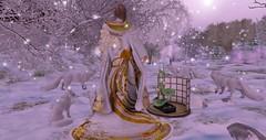 a memory (nicandralaval1) Tags: silveryk kimono japonica baroqued elemental snow frost ice jian arctic foxes {marykado} lotus tatami magika lelutka maitreya fashion asian secondlife secondlifefashion mesh bento