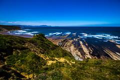 Baskenland0110Sopela (schulzharri) Tags: baskenland basque spanien spain espana bilbao reise travel strand beach meer ocean atlantik felsen rock water himmel wasser sky