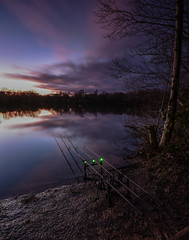 Peace and quiet, as the dusk creeps across the sky (andy.muir12) Tags: clouds colour lake hampshire dusk carpfishing fishing