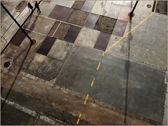WALKING THE PUZZLE (nouredine) Tags: bcn portforum diagonalzero beton metal floor puzzle walk nouredine nheyers