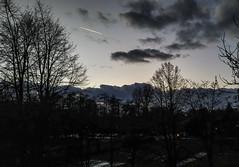 Crack in the sky (marek&anna) Tags: kraków krakow evening dark sky trees silhouette clouds paintingwithlightandshadows