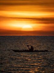 Kayaker (Tommi Vainionpää) Tags: meloja paddler kayak kanootti sunset auringonlasku sea shore