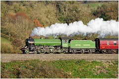 Mayflower 61306 steam train heads away from the Bath Christmas Market in glorious Autumn sunshine (livinginhtab) Tags: outstanding excellent steamtrain mainline steam mayflower 61306 bank glorioussunshine landscape railway steamrailway steamlocomotive steamloco