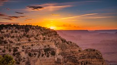 Grand Canyon At Golden Hour (Stuart Schaefer Photography) Tags: outdoor southrimgrandcanyon goldenhour evening grandcanyon sunset travel outdoors sun clouds sky arizona landscape brightsky sonya7r3 dusk nationalpark