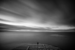 Hvidbjerg Strand II (Stefan K0n@th) Tags: fujifilmxt2 longtimeexposure seaside sea sky ocean wind denmark blåvand hvidbjergstrand pier winter bluehour laowa9mmf28zerodf8