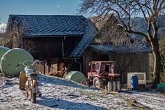 REMOTE PEASANT FARM (LitterART) Tags: kleinbauer bergbauer bauernhof moped puch lindner traktor tractor milchkannen milkcans retro timeless puchds50 steyrpuch steyrdaimlerpuch heuballen steiermark österreich sonyrx100iv