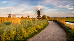 Photography is fun! (Rob Schop) Tags: kinderdijk 2020 goldenhour motionblur longexposure light path wind windmill color zuidholland fun sonya6000 sony1650mmossf3556 kitlens nd64 pola hoyaprofilters lrcc