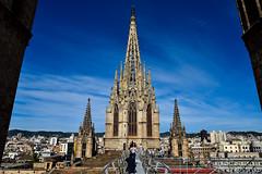 Sul tetto della Cattedrale di Barcellona (Valdy71) Tags: eulalia spagna spain espana barcelona europe travel nikon valdy church cattedrale