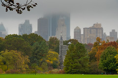 Fog over Central Park, New York - Manhattan, USA (Classicpixel (Eric Galton) Photography Portfolio) Tags: newyork manhattan centralpark fog brouillard usa us ericgalton classicpixel building batiment city ville downtown centreville nature trees arbres grass herbe autumn automne leaves leaf feuille branches gratteciel skyscrapers eastcoast liberty liberté olympus em5markii