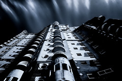 The Watch Tower. (Alan Habbick Photography.) Tags: canarywharf blackandwhite