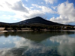 """Everything in your life is a reflection of a choice you have made...if you want different result, make a different choice.."" (fl_mala) Tags: parosisland traveltogreece discovergreece paros cyclades greekislands greecelovers reflections beautifulsea mountain clouds"