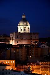 Lisbon Night Shot (mike_k0_0) Tags: lisbon portugal 25deabrilbridge christthekingstatue sunset nightime
