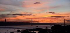 Lisbon Sunset (mike_k0_0) Tags: lisbon portugal 25deabrilbridge christthekingstatue sunset nightime