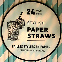 Stylish Paper Straws (Timothy Valentine) Tags: squaredcircle label large environmental tomarket packaging 0120 2020 shopping whitman massachusetts unitedstatesofamerica