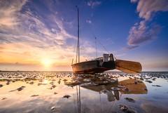 Tropical (Ellen van den Doel) Tags: tide sky reflection nederland netherlands clouds zonsondergang reflectie water lucht boat outdoor 2019 krabbendijke zeeland sunset getijde juni landschap boot roelshoek landscape wolken
