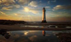Sunbathing (Caleb4Ever) Tags: lighthouse newbrighton newbrightonlighthouse merseyside wirral reflections landscape caleb4aver uk outdoors national perchrock