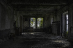 If a window of opportunity appears, don't pull down the shade. (Fragile Decay) Tags: window green light factory abandonded usine forbidden forgotten fragiledecay lost exploring empty