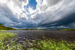 Storm clouds (Arttu Uusitalo) Tags: sunny storm clouds cloudy landscape lake lakescape shore summer windy noon north ostrobothnia finland sony a6500 fisheye 8mm