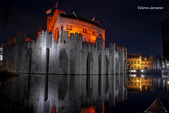 Ghent by night (Fabke.be) Tags: canonm50 canon m50 night nightshot longexposure castle castell castello gravensteen ghent gent