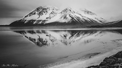 Melancholic Iceland - Kissing the sea (NaPhi Media) Tags: melancholic iceland kissing sea art black white schwarz weis sony alpha 7m2 naphi media sad deutsch german road trip car snow ice winter cool kunst reflection water