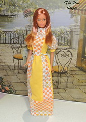 Rare 1970's Mego Granny Gown made for Barbie (The doll keeper) Tags: 1970 rare vintage granny gown mego barbie yellowstone yellowstonekelley kelly yellow flower
