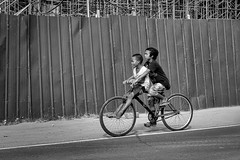Two Up (Beegee49) Tags: street people boys bicycle riding blackandwhite monochrome bw sony bacolod city philippines asia happyplanet asiafavorites