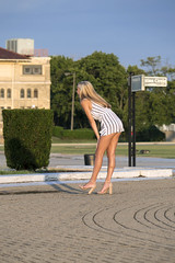 Model on Belle Isle (DJ Wolfman) Tags: detroit detroitmichigan model blonde modeling posing sunlight belleisle summer summerinmichigan olympus olympusomd em1markii
