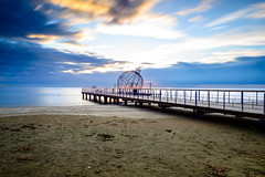 LE Sunrise (George Plakides) Tags: longexposure leend filter larnaca pier sunrise clouds sea sand christmas decoration ball