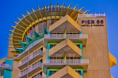 Pier Sixty-Six Hotel & Marina, 2301 SE 17th St, Fort Lauderdale, Florida, USA /  Built: 1965 (remodeled: 2022) / Floors: 17 /  Height: 221 Feet / Architect: Richard F. Humble / Architectural Style: Mid-Modern Architecture (Photographer South Florida) Tags: fortlauderdale ftlauderdale city cityscape urban downtown skyline browardcounty southflorida density centralbusinessdistrict skyscraper building architecture commercialproperty cosmopolitan metro metropolitan metropolis sunshinestate realestate veniceofamerica newriver lauderdalebeach landscape camping trees grass fitnesstrails fishing pavedpathways