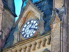 Cathedral Church of St. James ~ Toronto Ontario Canada ~  Ontario Heritage ~  Clock (Onasill ~ Bill Badzo - New Format) Tags: heritagecanada st lawrence hall stsaint meeting tower cupola clock landmark historical heritage ontario canada toronto canadian flag kingstreet jarvisstreet donwtown public historic building renaissance revival style victorian cabbagetown oldtown onasill on site cathedral church james pipe organs nave alter exterior interior gothic parish 1850 act episcopal anglican diocese royal george choir market music architecture wood carving mahogany georges college flowers cars vehicles garden city