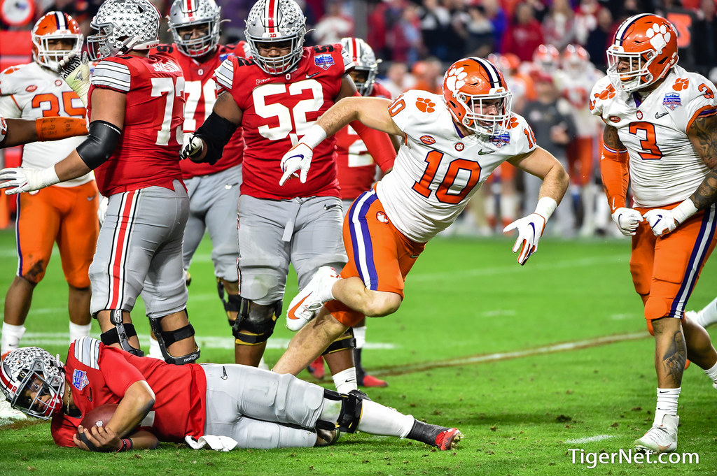 Clemson Photos: Baylon  Spector, Xavier  Thomas, 2019, Football, ohiostate
