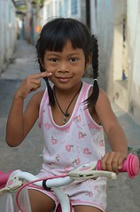 cute girl on her tricycle (the foreign photographer - ฝรั่งถ่) Tags: cute girl child tricycle khlong thanon portraits bangkhen bangkok thailand nikon d3200