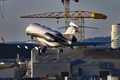OO-WEG_02 (GH@BHD) Tags: ooweg bombardier bd100 challenger300 challenger350 luxaviationbelgium abelagaviation belfastcityairport bhd egac bizjet corporate executive aircraft aviation