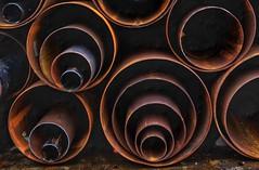 Pipes (Martin Tidbury) Tags: lumix rust circles steel pipes tube tubes pipe panasonic corrosion westyorkshire fabrication keighley dmcgx8 decreasingcircles lumixgvario1260mmf3556