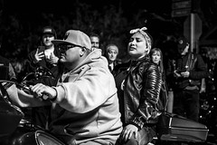 2019 Lone Star Rally (burnt dirt) Tags: galveston texas candid documentary street photography downtown city urban metro the strand outdoor people person fujifilm xt3 fujinon 50mm f2 bw monotone monochrome style fashion life real crowd group emotion expression portrait close motorcycle bike biker harley davidson night