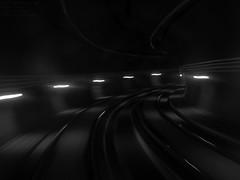 Speed of Curves (lugar.citadino) Tags: monochrome black white tunnel subway underground metro engineering ingeniería curves curvas