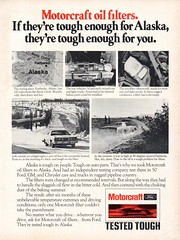 1977 Motorcraft Oil Filters Ford USA Original Magazine Advertisement (Darren Marlow) Tags: 1 7 9 19 77 1977 m motorcraft o oil f filter ford c car a automobile v vehicle 70s