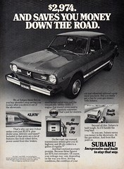 1977 Subaru 2 Door Sedan USA Original Magazine Advertisement (Darren Marlow) Tags: 1 7 9 19 77 1977 s subaru c car cool collectible collectors classic a automobile v vehicle j jap japan japanese asian asia 70s
