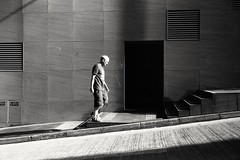 (David Davidoff) Tags: people street life shadow staircase door leicam6ttl summaron35mmf35goggles fomapanfilm analogue monochrome reflections human geometry stphotographia