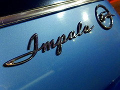 Classic Impala script (Explored 6 January, 2020--thanks!) (Light Orchard) Tags: car auto type logo lettering badge ©2020lightorchard bruceschneider impala chevrolet chevy