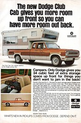1973 Dodge Club Cab Pick-Up Truck Camper Chrysler USA Original Magazine Advertisement (Darren Marlow) Tags: 1 3 7 9 19 73 1973 d dodge p pick u up t truck c camper chrysler car cool collectible collectors classic a automobile v vehicle s us usa united states american america 70s