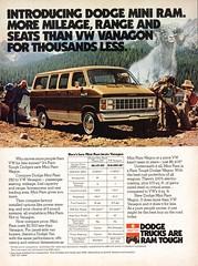 1981 Dodge Mini Ram Wagon Van Chrysler USA Original Magazine Advertisement (Darren Marlow) Tags: 1 8 9 19 81 1981 d dodge m mini r rm w wagon v van c chrysler mopar car cool collectors collecible classic a automobile vehicle u s us usa united states american america 80s