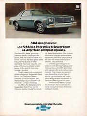1977 Chevrolet Chevelle Malibu Coupe USA Original Magazine Advertisement (Darren Marlow) Tags: 1 7 9 19 77 1977 c chev chevy chevrolet chevelle m malibu coupe car cool collectible collectors classic a automobile v vehicle u s us usa united states american america 70s