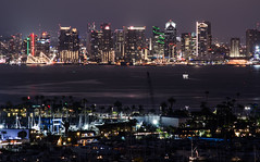 City's lights (Rabican7) Tags: sandiego california night view marina yachts skyline buildings lights highrises skyscrapers busy sea water bay trees darkness longexposure architecture city urban southerncalifornia