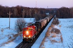 CP 7027 (shawn_christie1970) Tags: kimball minnesota unitedstatesofamerica emd sd70acu cppaynesvillesub cp689 cp7027 railroad train winter dusk watkins csx