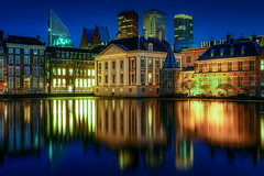 The Hague - The Netherlands (Dutch parliament) (www.Royz.nl) Tags: famous place dusk river travel destinations photography no people outdoors illuminated reflection cityscape architecture building exterior city night water den haag hague netherlands holland