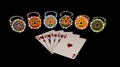 Flush (Tony Howsham) Tags: pokerchips poker flush ace hearts heart 18250 sigma 70d eos canon