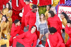 2020 Pasadena Rose Parade - Ally Brooke with the Chino Hills High School Drumline